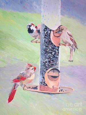 Painting - The Bird Feeder by Stella Sherman