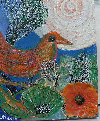 The Bird Is The Word Print by Anne-Elizabeth Whiteway
