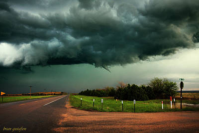 Nebraska Landscape Photograph - The Birth Of A Funnel Cloud by Brian Gustafson