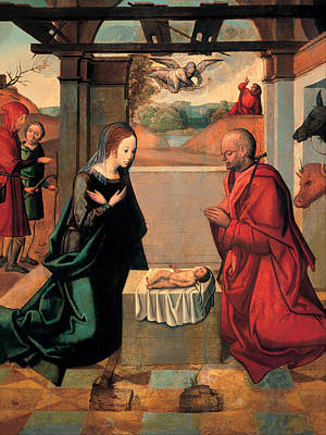 The Birth Of Christ And The Annunciation To The Shepherds Print by Mountain Dreams