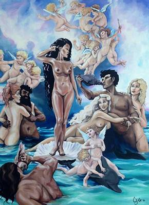 The Birth Of The Caribbean Venus Original by Charlotte Oedekoven