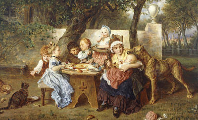 The Birthday Party Print by Ludwig Knaus