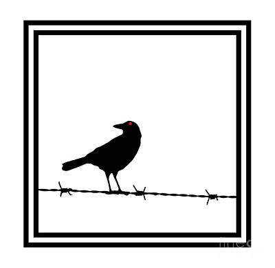 The Black Crow Knows T-shirt Print by Edward Fielding