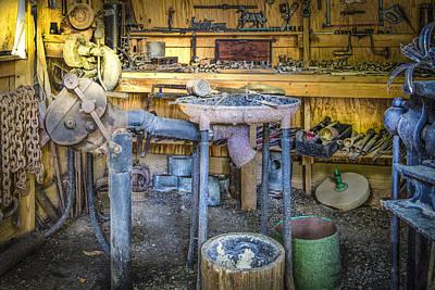 The Blacksmith's Shoppe Print by Debra and Dave Vanderlaan
