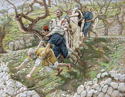 The Blind Leading The Blind Print by Tissot