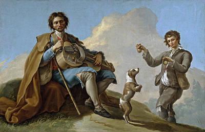 Ramon Bayeu Painting - The Blind Singer by Ramon Bayeu