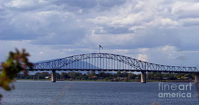 Columbia River Photograph - The Blue Bridge by Charles Robinson
