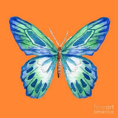 The Blue Butterfly Print by Alondra Hanley