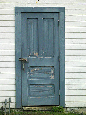 Old House Photograph - The Blue Door by Mg Blackstock