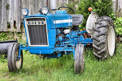 Country Scene Photograph - The Blue Ford by JC Findley