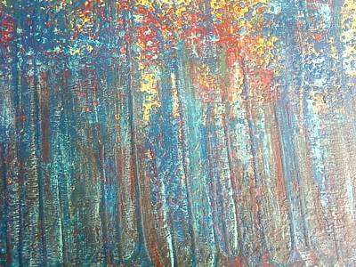 The Blue Forest Print by Pradeep Gupta