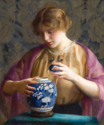 Painting - The Blue Jar by William McGregor Paxton