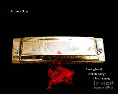 The Blues Harp Print by Steven  Digman