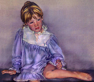 Figurative Pastel - The Blues by Jean Hildebrant