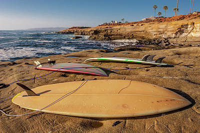 California Surfing Photograph - The Boards by Peter Tellone