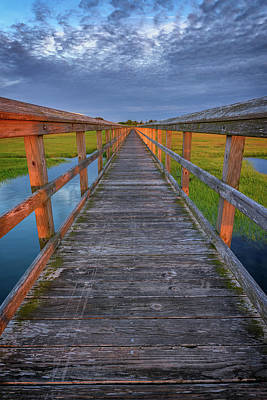 The Boardwalk In The Marsh Print by Rick Berk