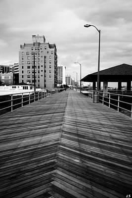 The Boardwalk Print by Linda Sannuti