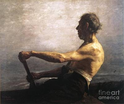 Old Painting - The Boatman by MotionAge Designs