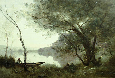 The Boatman Of Mortefontaine Print by Jean-Baptiste-Camille Corot