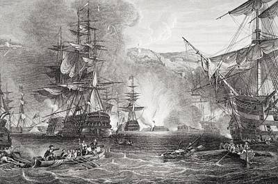 Lord Drawing - The Bombardment Of Algiers By Lord by Vintage Design Pics