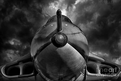 Vulcan Digital Art - The Bomber Bw by Stephen Smith