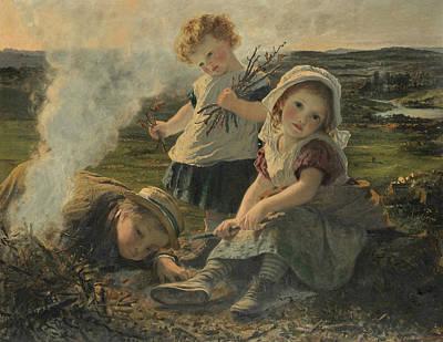 Bonfire Painting - The Bonfire by Sophie Gengembre Anderson