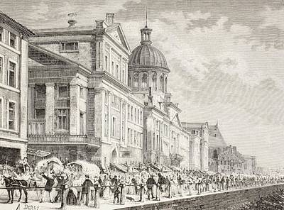 Montreal Drawing - The Bonsecours Market In Montreal by Vintage Design Pics