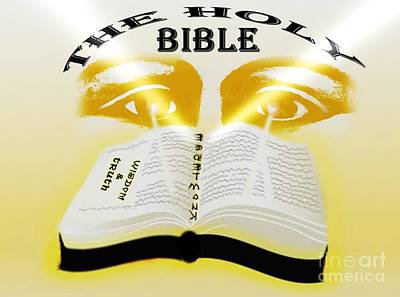 The Book Of Knowledge Print by Belinda Threeths