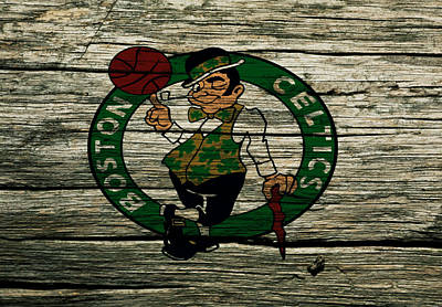 Magic Johnson Mixed Media - The Boston Celtics 2w by Brian Reaves