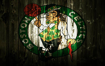 Larry Bird Mixed Media - The Boston Celtics 5b by Brian Reaves