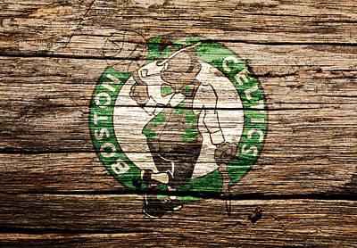 Larry Bird Mixed Media - The Boston Celtics 6h by Brian Reaves