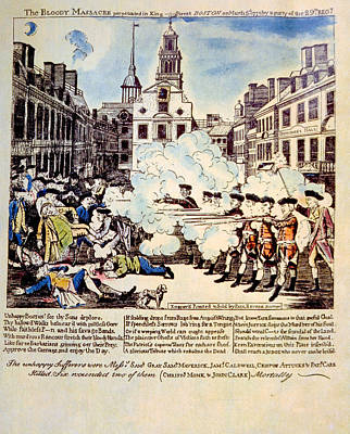Redcoat Photograph - The Boston Massacre, March 5, 1770 by Everett