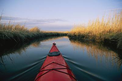 Natural Forces Photograph - The Bow Of A Kayak Points The Way by Skip Brown