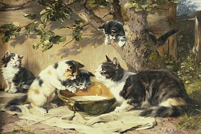Sip Painting - The Bowl Of Milk by Julius Adam