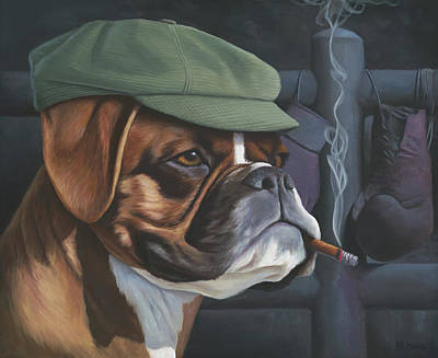 Metaphysical Painting - The Boxer by Paul Bond