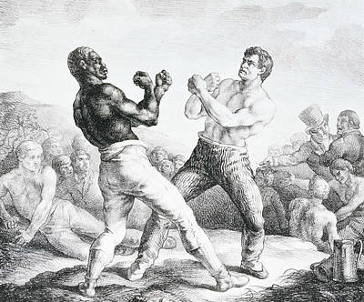 The Boxers  Print by Theodore Gericault