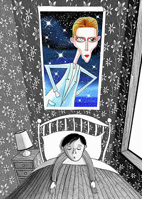 The Boy Who Dreamed Of David Bowie  Print by Andrew Hitchen