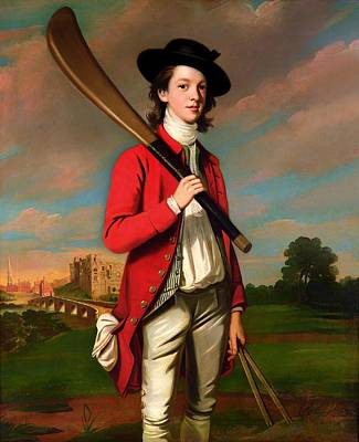 Cricket Painting - The Boy With A Bat - Walter Hawkesworth Fawkes by Mountain Dreams