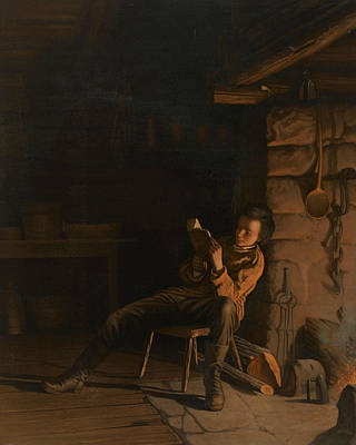 Abraham Lincoln Painting - The Boyhood Of Lincoln  by Eastman Johnson