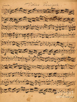 Violin Drawing - The Brandenburger Concertos by Johann Sebastian Bach