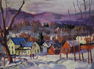 Distant Mountains Painting - The Brandon Farm by Len Stomski