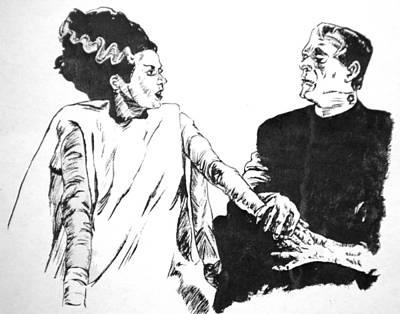 The Bride Of Frankenstein Print by Bryan Bustard