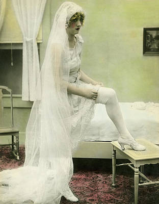 Distraught Photograph - The Bride Retires by Underwood Archives
