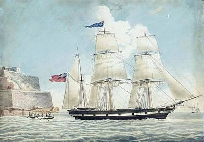 Robertson Painting - The British Barque Anna Robertson Of Scarborough Leaving Malta by Nicolas