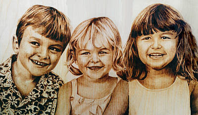 Pyrography - The Brugler Kids by Dino Muradian