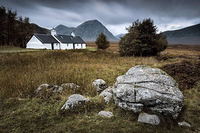Old House Photograph - Blackrock And The Buachaille by Dave Bowman