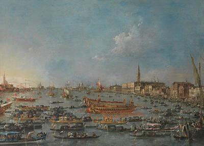 The Bucintoro Festival Of Venice Print by Francesco Guardi