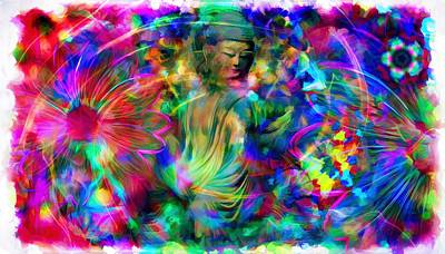 Buddha Photograph - The Buddha Of Colors  by Daniel  Arrhakis