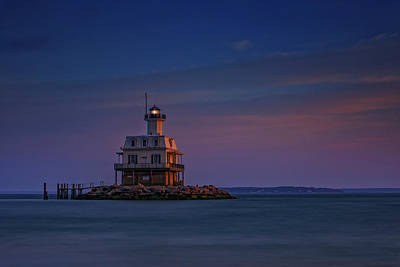 The Bug Light At Dusk Print by Rick Berk