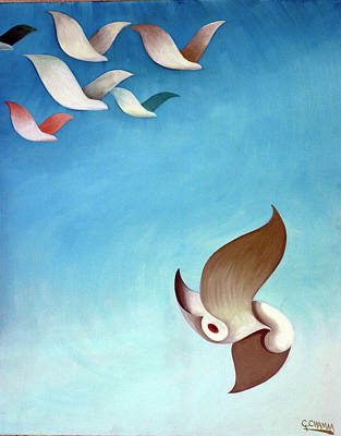 Shouting Painting - The Bullet by George Chamaa